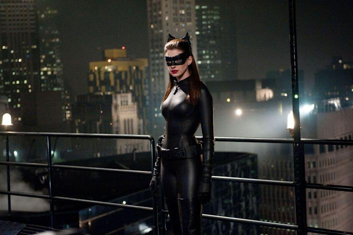 "<p>In preparation for her role as Catwoman in <em>The Dark Knight Rises</em>, Anne Hathaway stuck to a <a href=""https://www.shape.com/celebrities/anne-hathaways-catwoman-diet"" rel=""nofollow noopener"" target=""_blank"" data-ylk=""slk:vegan, anti-inflammatory diet"" class=""link rapid-noclick-resp"">vegan, anti-inflammatory diet</a> which included whole grains to control blood sugar and good fats like avocados and nuts. And having to do the job in a skin-tight leather catsuit took its toll on the Oscar winner. ""[The suit] was a psychological terrorist,"" <a href=""https://www.allure.com/gallery/anne-hathaway"" rel=""nofollow noopener"" target=""_blank"" data-ylk=""slk:she told Allure"" class=""link rapid-noclick-resp"">she told <em>Allure</em></a> in July 2012. ""The suit, thoughts of my suit, changing my life so I would fit into that suit. … It dominated my year.""</p>"