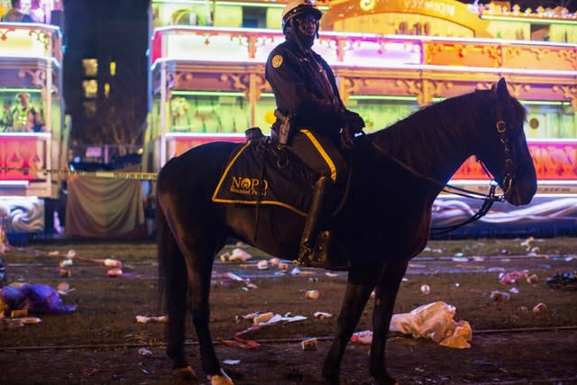 A police officer at the scene in New Orleans