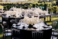 """Our wedding planner <a href=""""https://www.instagram.com/triciasmithbrown/?hl=en"""" rel=""""nofollow noopener"""" target=""""_blank"""" data-ylk=""""slk:Tricia Smith Brown"""" class=""""link rapid-noclick-resp"""">Tricia Smith Brown</a> executed our vision effortlessly. It's sleek, elevated, and the space was designed for people to flow in and out, with Darroll and I being in full view. It was so beautiful!"""