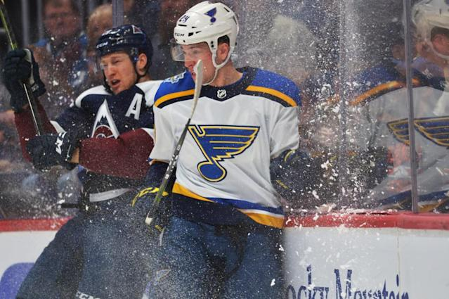 Avs' Nathan MacKinnon is pseudo leader of four rival Blues at All-Star Game in St. Louis