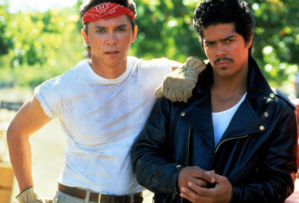 """<p>Lou Diamond Phillips stars in this biopic about the life and enduring legacy of Chicano rocker Ritchie Valens, who tragically died in a plan crash in 1959 just as his music career was taking off.</p> <p><a href=""""https://www.amazon.com/Bamba-Lou-Diamond-Phillips/dp/B000ID1Q02"""" rel=""""nofollow noopener"""" target=""""_blank"""" data-ylk=""""slk:Available to rent on Amazon Prime Video"""" class=""""link rapid-noclick-resp""""><em>Available to rent on Amazon Prime Video</em></a></p>"""