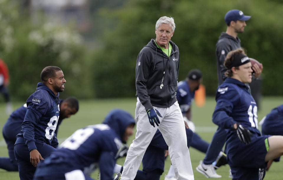 Last season, Pete Carroll's Seahawks missed the playoffs for the first time since the 2011 season. (AP)