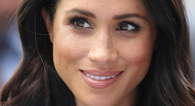 Meghan Markle made an unannounced visit to London's National Theatre. (Getty Images)