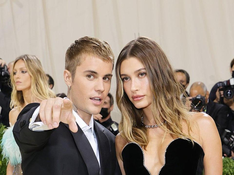 Justin Bieber and Hailey Baldwin at the 2021 Met Gala (Getty Images)