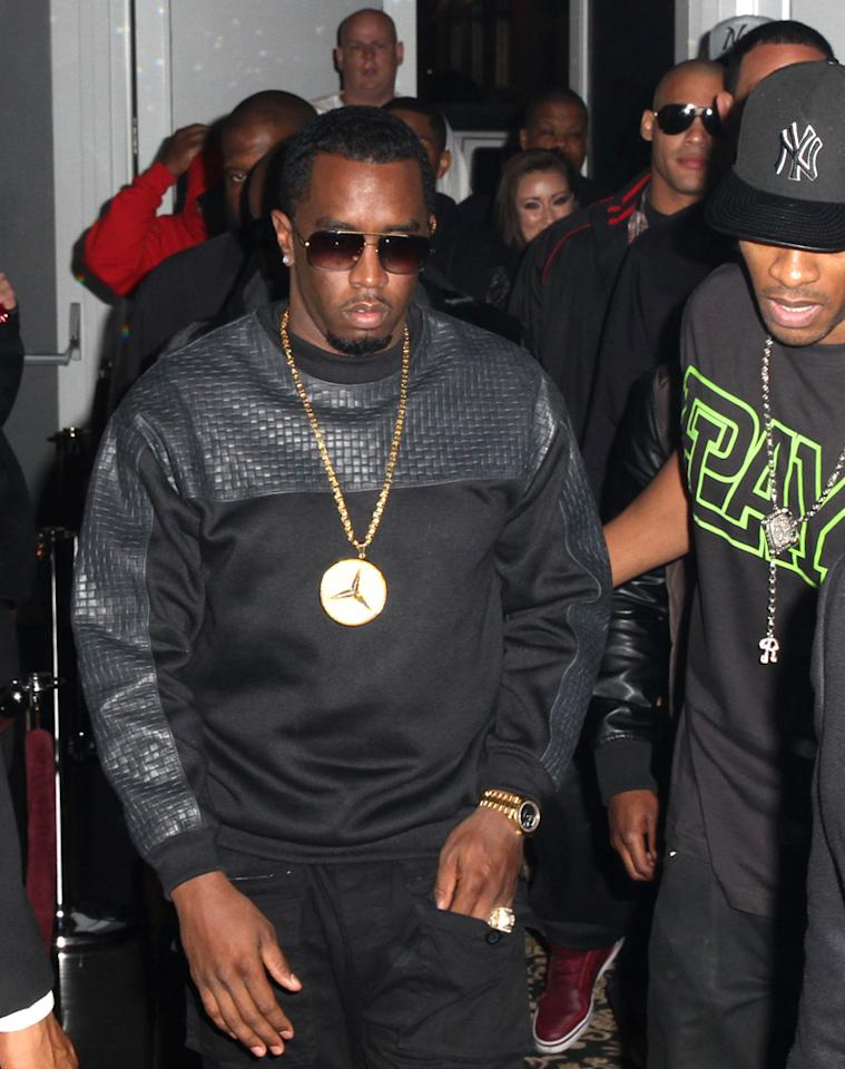 MIAMI, FL - NOVEMBER 21:  Diddy arrives  at Bamboo Miami on November 21, 2012 in Miami, Florida.  (Photo by Aaron Davidson/Getty Images)
