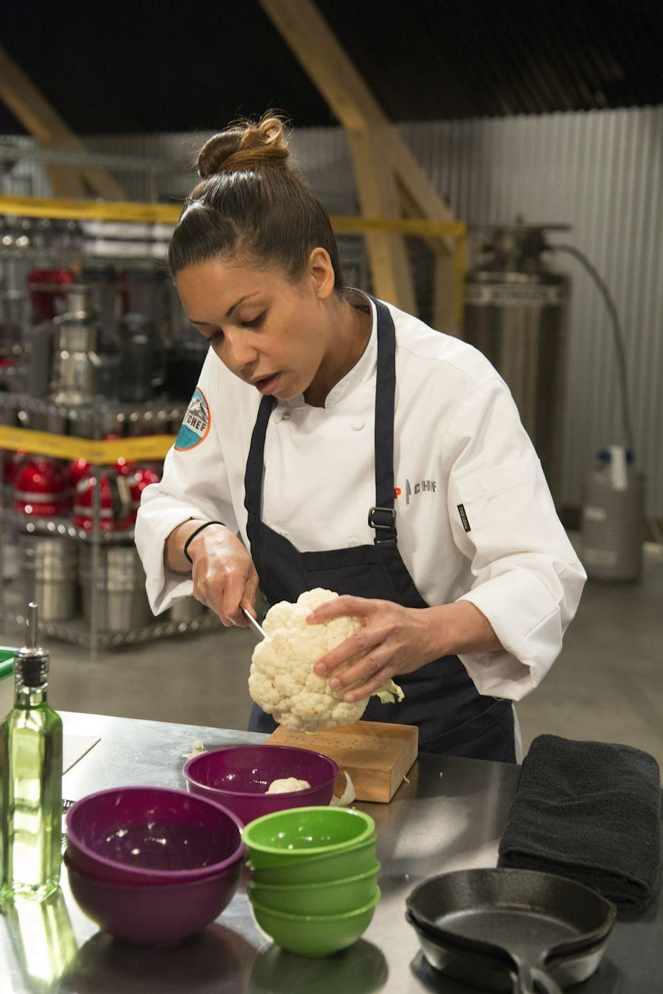 """<p>Season 18 of <em>Top Chef</em> was presented with the challenge of the COVID-19 pandemic. """"It wasn't ever a question of whether we could do it, it was a question more of when we could do it safely,"""" Dan Murphy, COO of the show's production company, Magical Elves, told <a href=""""https://www.realityblurred.com/realitytv/2021/03/top-chef-portland-behind-the-scenes-producers-interview/"""" rel=""""nofollow noopener"""" target=""""_blank"""" data-ylk=""""slk:Reality Blurred"""" class=""""link rapid-noclick-resp"""">Reality Blurred</a>. Production followed CDC guidelines and housed all cast and crew in one hotel to limit outside exposure.</p>"""