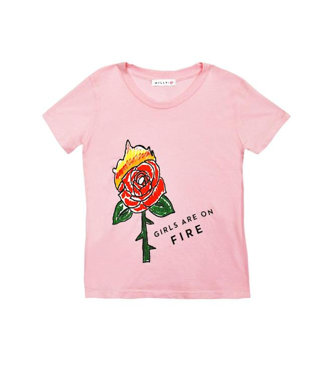 Milly Minis Girls Are on Fire tee, $55, <span>milly.com</span>