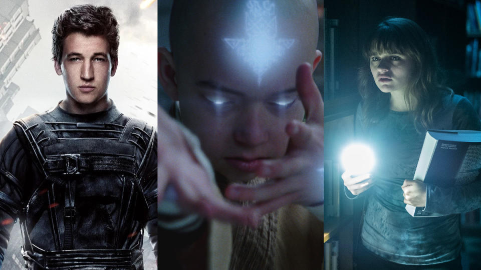 'Fantastic Four', 'The Last Airbender' and 'Slender Man'. (Credit: Fox/Paramount/Sony)