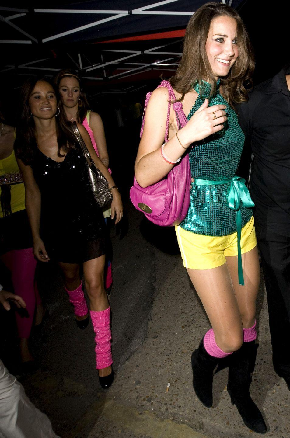 """<p>During her separation from Prince William, Kate—who was still very much in the public eye having dated a royal—was spotted attending a charity event in bright yellow shorts and a flashy green sequin top. People, including the palace, were upset by her attire. According to the <em><a href=""""http://www.dailymail.co.uk/tvshowbiz/article-1058564/What-picture-tells-state-Kate-Middleton-Prince-Williams-romance.html"""" rel=""""nofollow noopener"""" target=""""_blank"""" data-ylk=""""slk:Daily Mail"""" class=""""link rapid-noclick-resp"""">Daily Mail</a></em>, Buckingham Palace courtiers were """"appalled"""" by Kate's appearance, and said it was the """"most unladylike display"""" they'd ever seen. More photos show Kate on the ground, wearing roller skates, and laughing hysterically. </p>"""