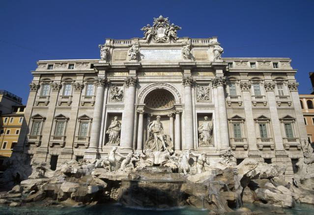 The Trevi Fountain was the scene of a brawl between tourists. (Photo: DeAgostini/Getty Images)