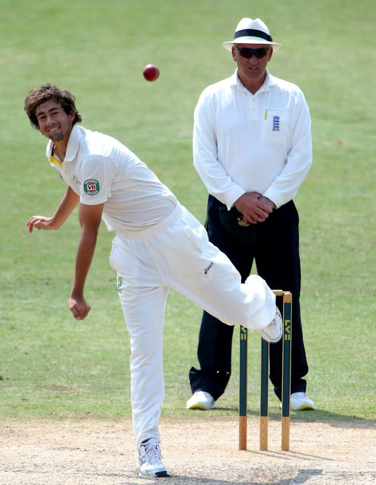 Australia's Ashton Agar during day four of the International Tour match at New Road, Worcester.