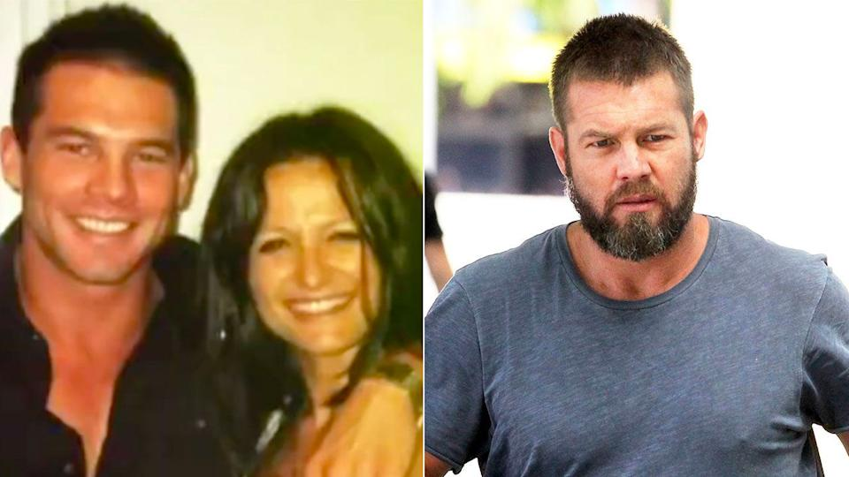 Ben Cousins is seen here with his ex-partner Maylea Tinecheff.