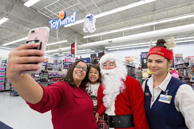 Guests will be able to snap a photo with Santa at Walmart during the holidays.
