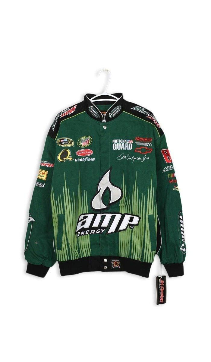 "<br><br><strong>NASCAR</strong> Racing Jacket, $, available at <a href=""https://frankiecollective.com/collections/all-clothing/products/vintage-racing-jacket-77"" rel=""nofollow noopener"" target=""_blank"" data-ylk=""slk:Frankie Collective"" class=""link rapid-noclick-resp"">Frankie Collective</a>"