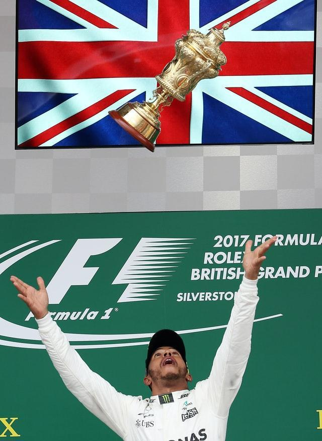 Lewis Hamilton's six British Grand Prix wins – File photo