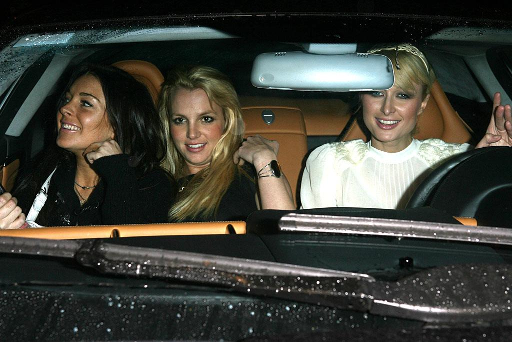 """<p class=""""MsoNoSpacing"""">In November 2006, the ink was barely dry on Britney's divorce papers with Kevin Federline when she hit the Hollywood club scene hard with two of Tinseltown's biggest party girls: Paris Hilton and Lindsay Lohan. The trio made quite a splash … mostly because they were constantly forgetting to wear panties. The Holy Trinity of Celebrity Gossip didn't last long though. After just a few weeks of partying into the wee hours, Britney – who had just given birth to son Jayden two months previously – suddenly cut them out of her life (and then she cut all her hair off, but that's another story). Although the pop star has since cleaned up her act, Lindsay and Paris are still, nearly six years later, up to their old shenanigans. Between the two, they have spent 97 days in jail for offenses such as cocaine possession, DUI, and driving with a suspended license.</p>"""