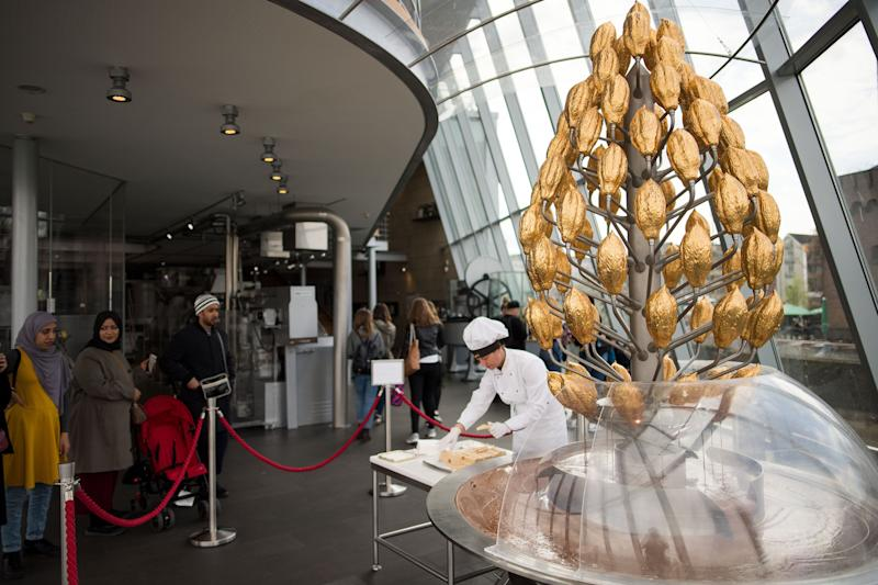 """If you find yourself in Germany, consider checking out <a href=""""https://www.schokoladenmuseum.de/en/"""" target=""""_blank"""" rel=""""noopener noreferrer"""">The Imhoff-Schokoladenmuseum</a>&nbsp;aka The&nbsp;Chocolate Museum in Cologne. The scenic museum presents the global history of cocoa and a look at contemporary chocolate production, as well as a popular cafe and shop.&nbsp;"""
