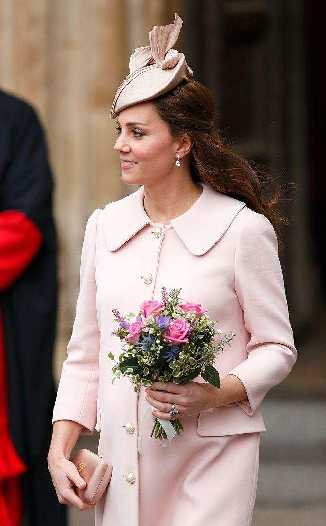 <p>The Duchess of Cambridge looked perfectly poised in pink at the Commonwealth Observance Service at Westminster Abbey in 2015.</p>