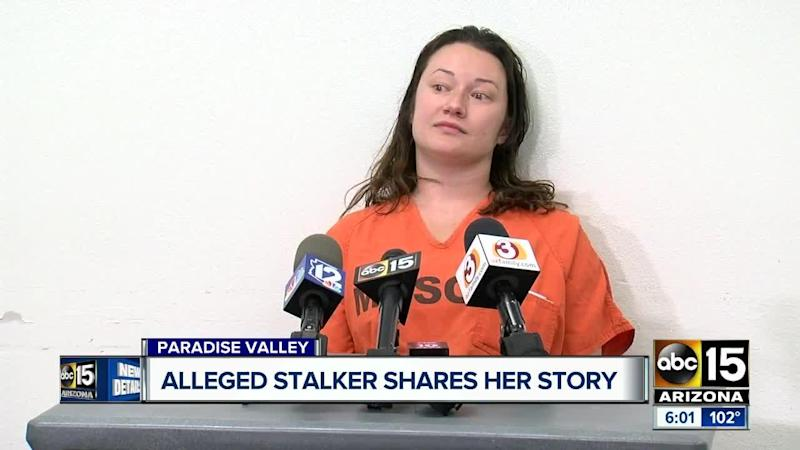 An Arizona woman who was arrested in April for allegedly stalking a man she