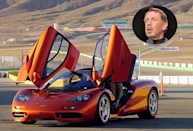 Billionaire Larry Ellison, founder of Oracle, is famous for his many cars. Among his most prestigious is this McLaren F1. In 1998, the car was declared the fastest ever to hit the road and its invention is seen as revolutionary. Production of the cars stopped that year and now they can fetch up to $4.1 million each. Information via Wikipedia.
