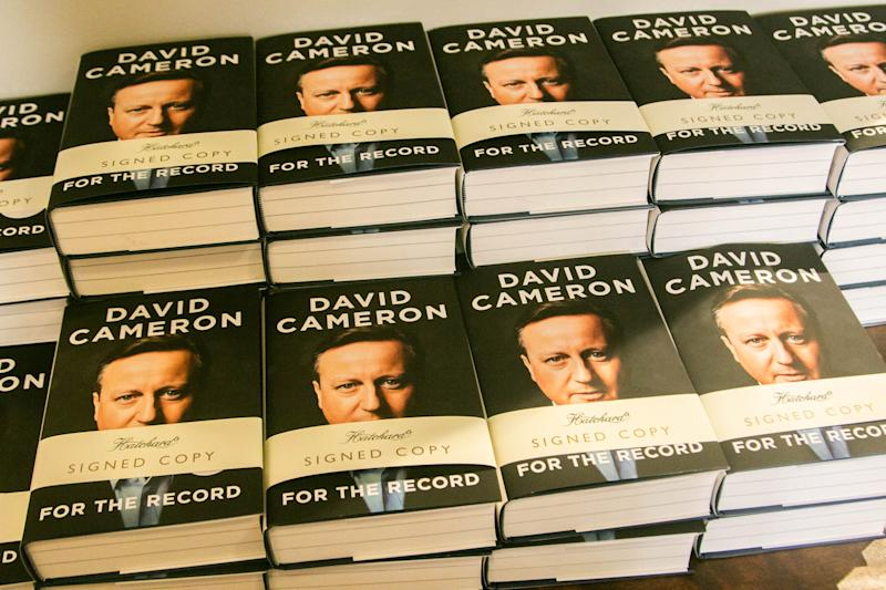 "LONDON, UNITED KINGDOM - 2019/09/19: Signed copies of the autobiography book "" For the Record"" by the former British Prime Minister David Cameron at Hatchards bookstore in Piccadilly, London. (Photo by Amer Ghazzal/SOPA Images/LightRocket via Getty Images)"