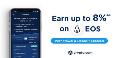 Crypto Earn: Now Earn 8% p.a. on EOS deposits