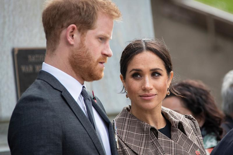 Prince Harry and Meghan. (Photo: Pool via Getty Images)