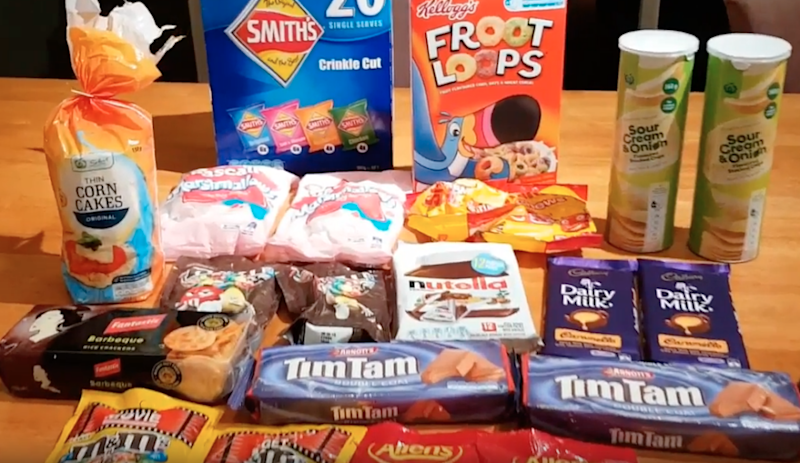Could you eat all this and more in just 24 hours? Photo: YouTube