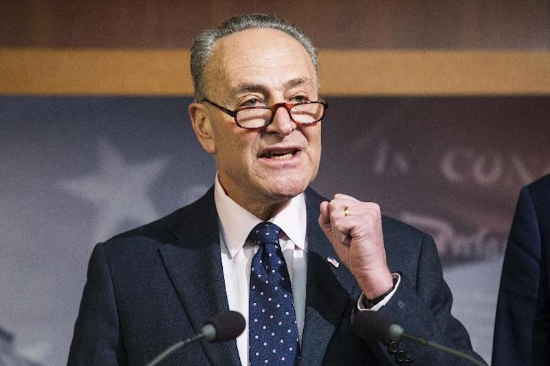 In this Jan. 5, 2017, photo, Senate Minority Leader Charles Schumer speaks during a news conference on Capitol Hill in Washington. The government's ethics office says several of President-elect Donald Trump's Cabinet choices have not completed a review to avoid conflicts of interest even as Senate Republicans move rapidly to hold at least nine confirmation hearings next week. In a letter to Senate leaders, Walter Shaub, the director of the Office of Government Ethics, described the current status of several nominees, many of whom are billionaires and millionaires, in the ethics process and expressed concern about the lack of ethics reviews just days from committee hearings. (AP Photo/Zach Gibson, File)