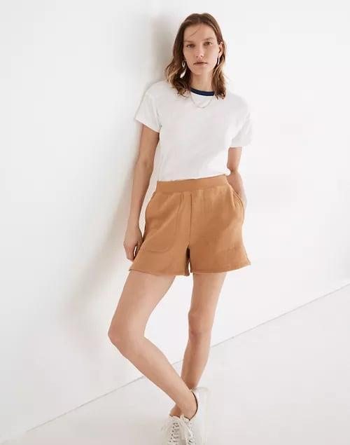 <p>You can still keep your winter cozies this spring and summer with a pair of lightweight <span>Madewell MWL Airyterry Stitched-Pocket Sweatshorts</span> ($40), coming in four colors to choose.</p>