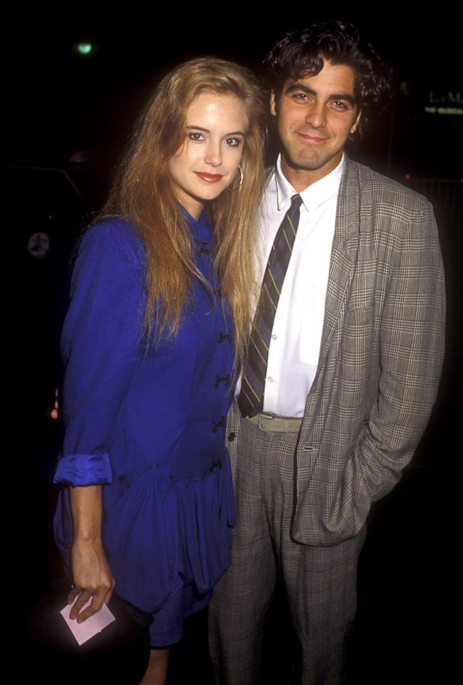 Before Kelly Preston married John Travolta and George Clooney became one of Hollywood's most eligible bachelors, they were just two struggling actors who found love. In 1988, after a year of dating, they moved in together -- and got a 280-pound potbelly pig named Max. But a year later, Preston and Clooney called it quits ... and he got sole custody of Max.
