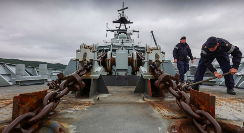 HMS Severn's armament includes a 20mm cannon and two machine guns. (Ministry of Defence)