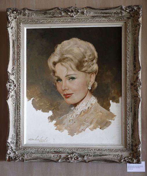 PHOTO: A Lembert de Soto portrait of Zsa Zsa Gabor is displayed at the 'Hello Dal-ling: The Estate of Zsa Zsa Gabor' auction by Heritage Auctions at the late actress residence in Bel Air, Calif., April 12, 2018. (Mike Nelson/EPA via Shutterstock)