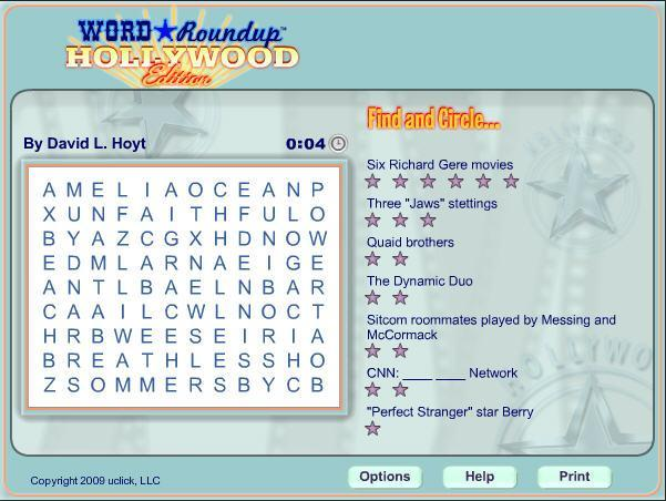 Game of the day: Word Roundup Hollywood Edition