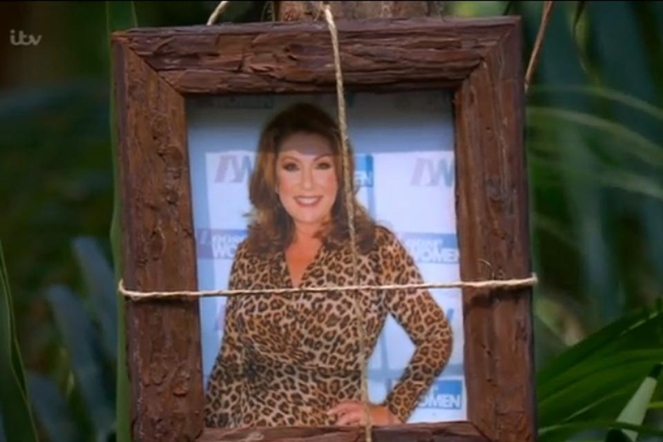 Icon: The star is watching over the I'm A Celebrity camp (ITV)
