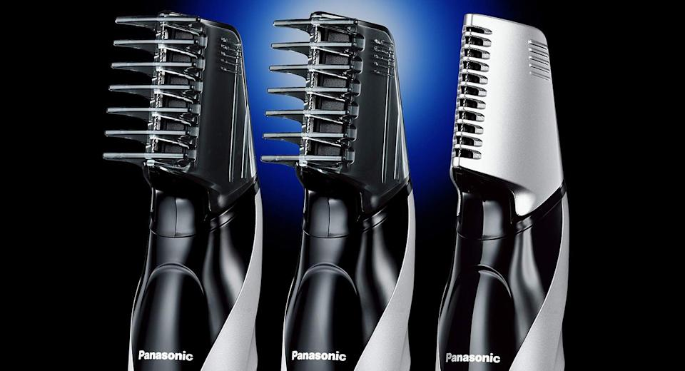 Panasonic Electric Body Groomer & Trimmer for Men with 3 comb attachments. (Photo: Amazon)