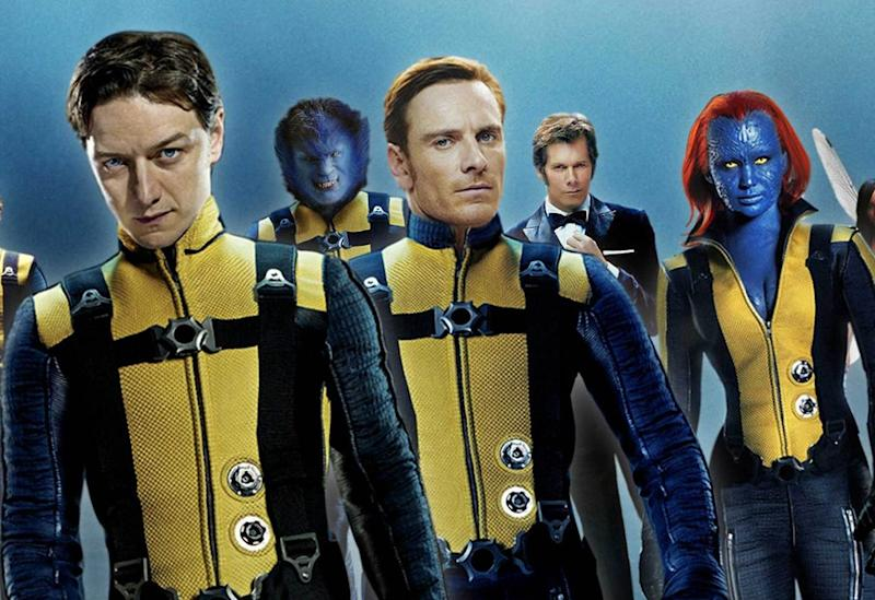 The core quartet (plus Kevin Bacon!) in 2011's 'X-Men: First Class' (Credit: 20th Century Fox)