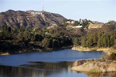 A general view of the Hollywood Reservoir is seen in Hollywood, California February 21, 2014. REUTERS/Mario Anzuoni