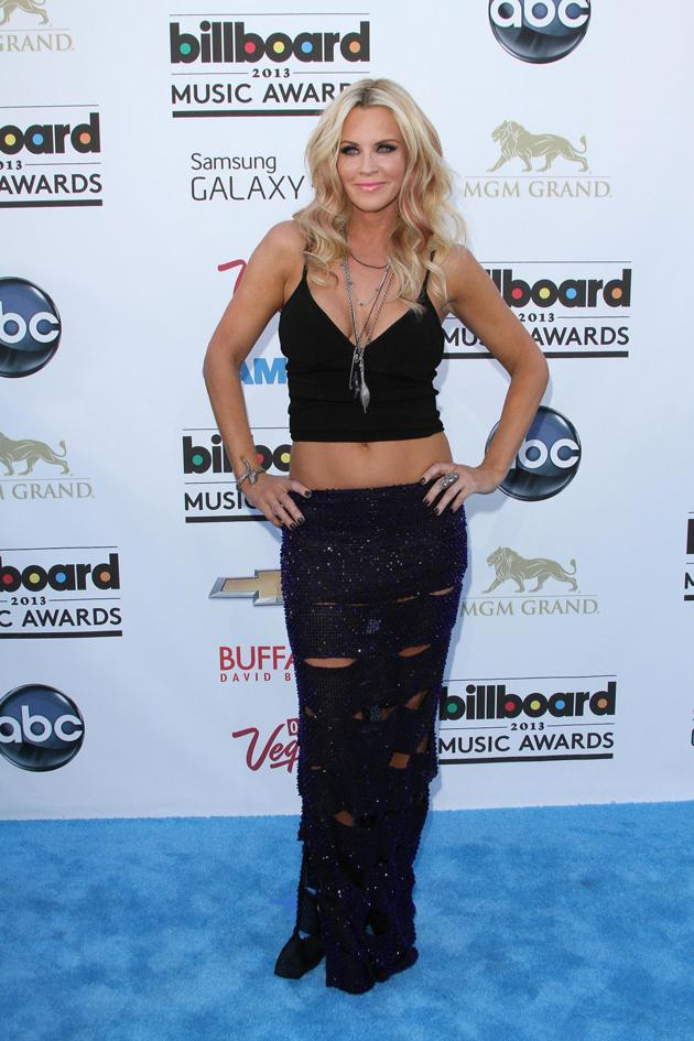 Worst dressed at the Billboard Music Awards: Jenny McCarthy, you might have amazing abs but that's no excuse for this fashion fail. Copyright [WENN]