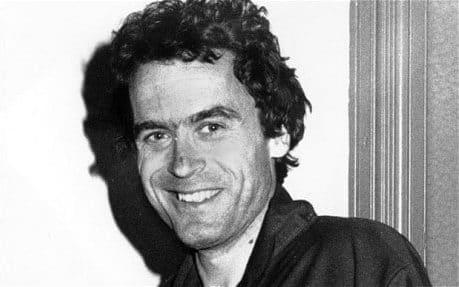 The American serial killer Ted Bundy, who is believed to have murdered at least 30 people