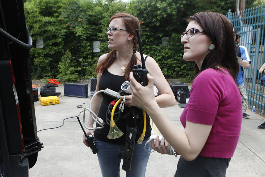 """Amy Bruni and Ashley Troub in the """"Ghost Hunters"""" episode, """"Don't Feed the Apparition."""""""