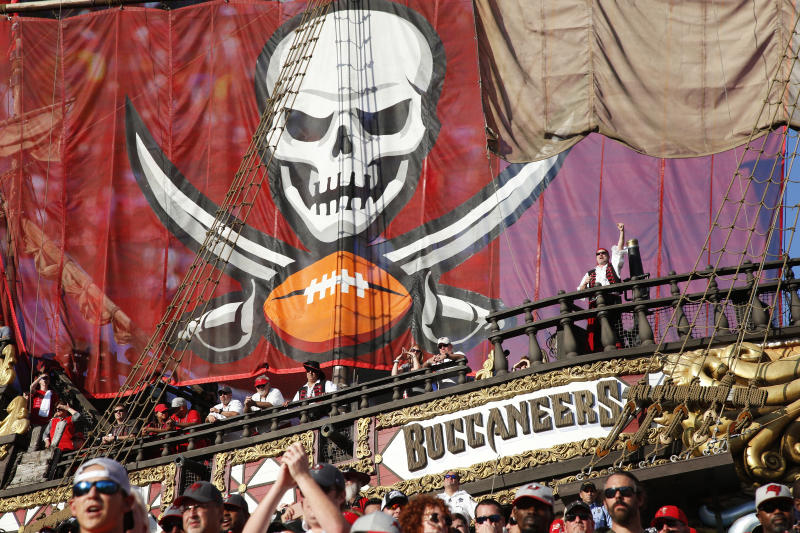 TAMPA, FL - JANUARY 01: General view of the end zone pirate ship as the Tampa Bay Buccaneers play during the game against the Carolina Panthers at Raymond James Stadium on January 1, 2017 in Tampa, Florida. The Buccaneers defeated the Panthers 17-16. (Photo by Joe Robbins/Getty Images) *** Local Caption ***