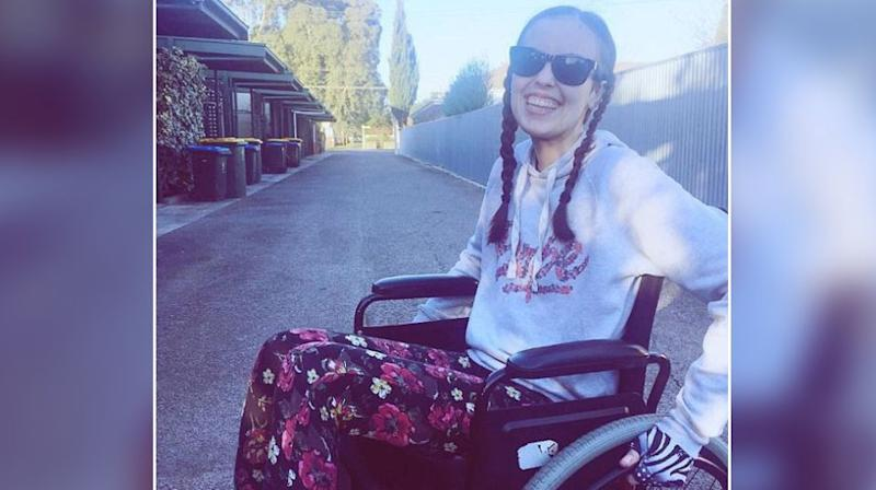 As Carmel's mum pushed her wheelchair into Centrelink, they weren't expecting she'd be denied a much needed disability pension. Source: GoFundMe