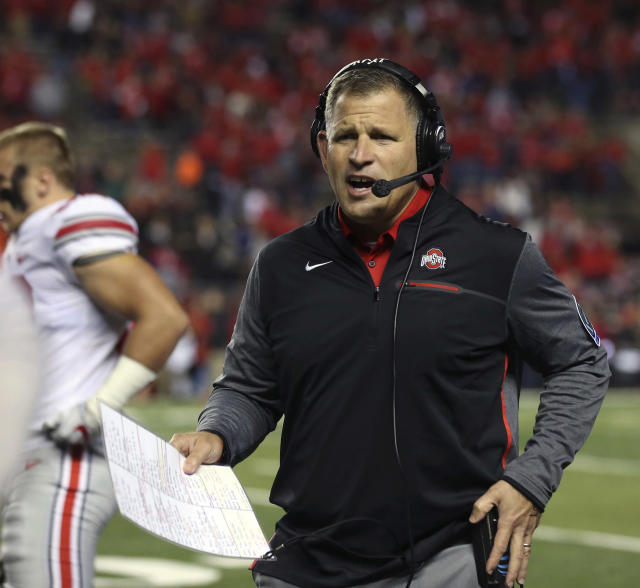 Greg Schiano has been on Ohio State's staff for the past three seasons. (AP Photo/Mel Evans, File)