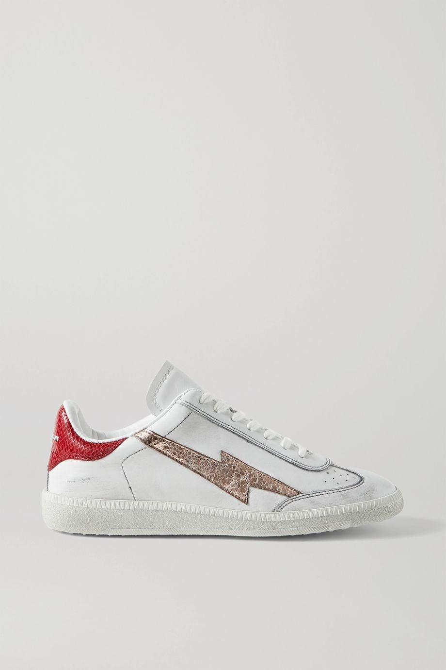 <p>What's even cooler than the metallic bolt on these <span>Isabel Marant Bryce Sneakers</span> ($248, originally $495)? They're on sale.</p>