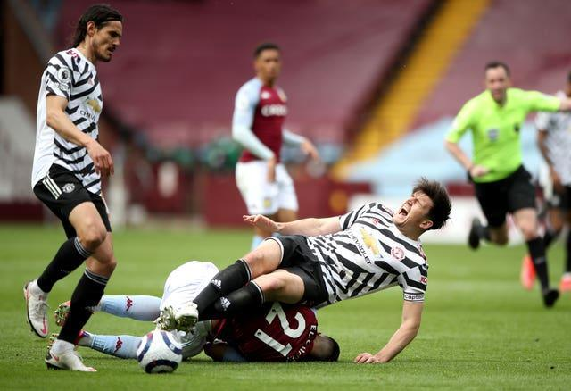 Maguire suffered ankle ligament damage in Manchester United's Premier League win at Aston Villa.