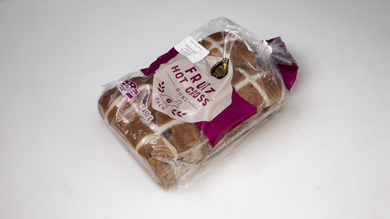 Aldi Bakers Life Fruit Hot Cross Buns