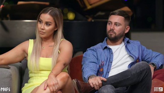 Cathy and Josh are over red rover. Photo: Channel Nine