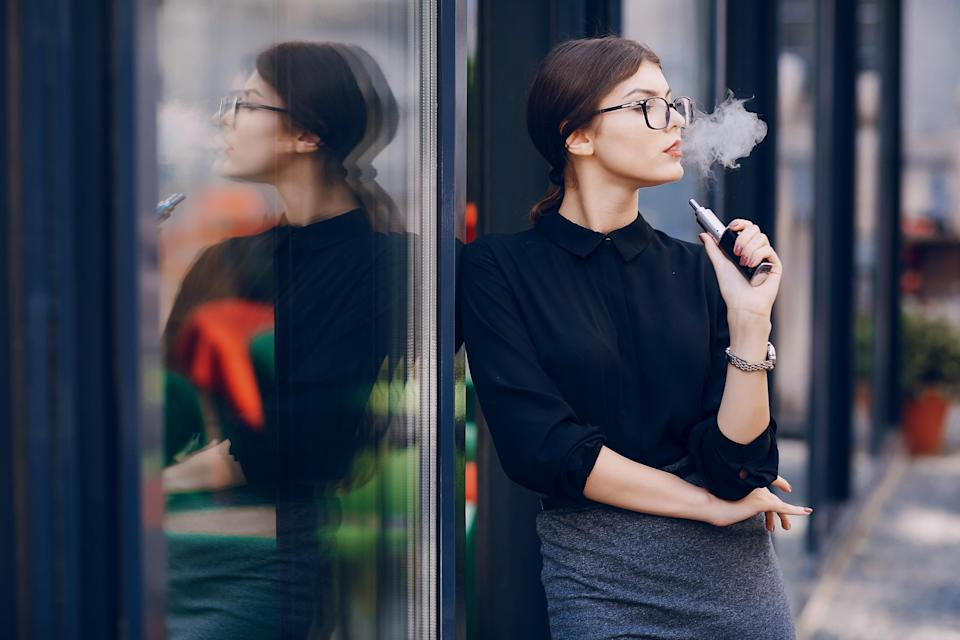 Is vaping as harmful as conventional smoking? [Photo: Getty]