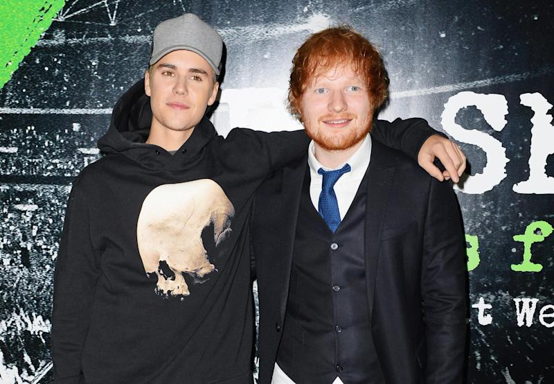 Accident: Justin Bieber and Ed Sheeran: Dave Benett